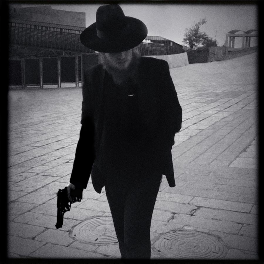 BeckerHarrison, Western Wall, 2012, Acrylic On Fuji B/w Archival Matt Photographic Paper, 50 X 50 Cm © BeckerHarrison, Courtesy Galerie Hiltawsky