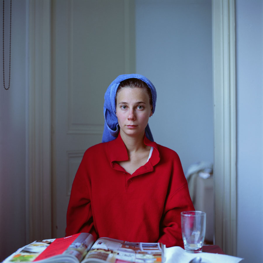 "© Peter Puklus, ""Melinda after Hairwashing (up)"", 2005, Paris"