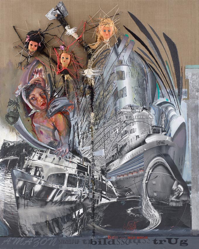 © Wolfgang Petrick, Departure, 2013-15, Acrylic, Oil, Application On Canvas, 260 X 200 Cm