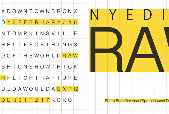 Exp12 | Book Launch: New York Edited. Raw