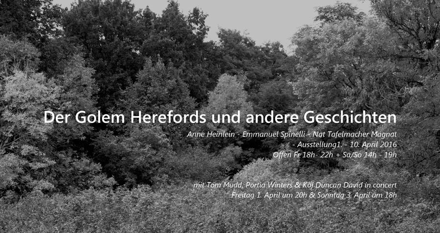 "Poster For »The Golem Of Hereford And Other Stories« | Photo © Anne Heinlein, From The Series ""Wüstungen"" (Deserted Villages)"
