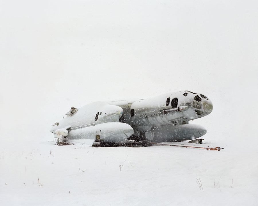 © Danila Tkachenko: 1. Airplane - amphibia with vertical take-off VVA14. The USSR built only two of them in 1976, one of which has crashed during transportation. Russia, Moscow area, 2013, from the series »Restricted areas«