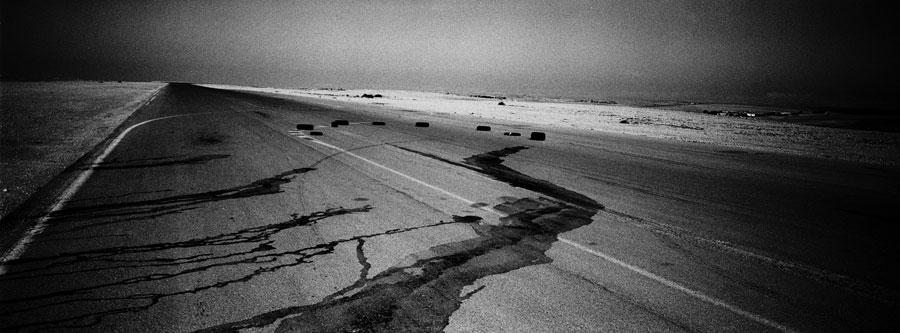 »Highway«, 2014, From The Series »Sunburn«, Black And White Negative Printed On Archival Paper, Ed. 5+1 AP, 59 X 162,5 Cm © Daniel Tchetchik