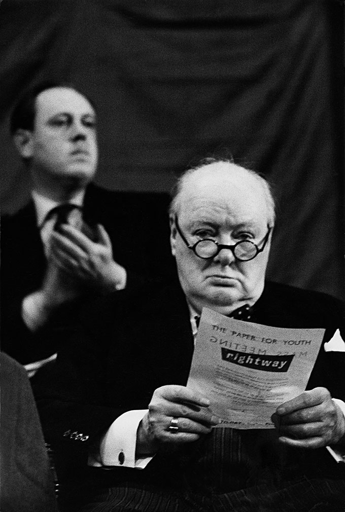 Winston Churchill, Blackpool, 1954 © Marc Riboud