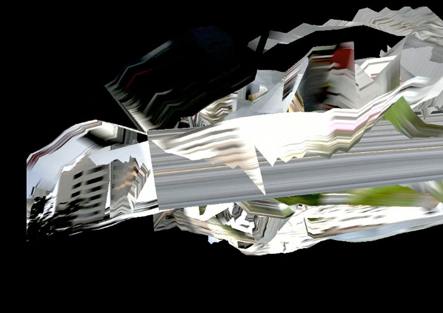 KATHRIN GANSER, Raw-Scan-Loop, 2012, Video Still, 12:29 Min, Screening: 150 X 200 Cm (variable Dimension) © VG Bild-Kunst