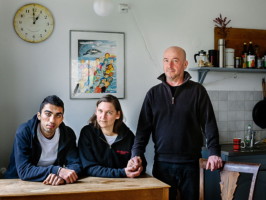 Germany. Newruz, A Refugee From Syria Lives With Claudia And Tobias In Berlin. Photo © Aubrey Wade / UNHCR.