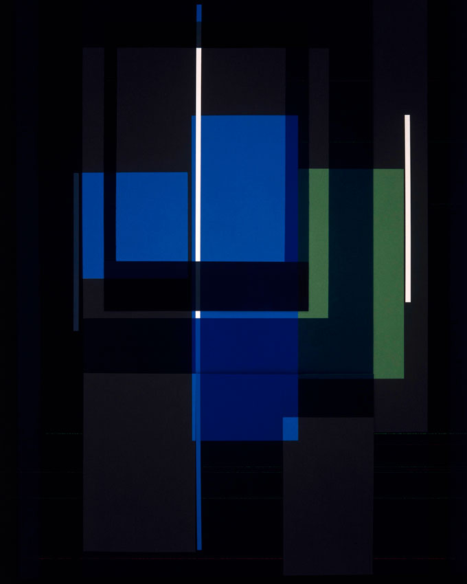 © Richard Caldicott, Blue Elements With Geometry, 2004, 50x40″, Edition Of 5