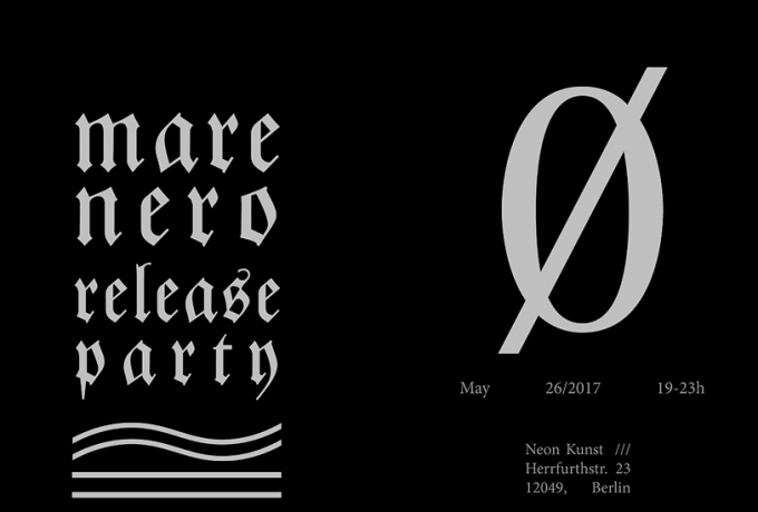 NEON Kunst | »Mare Nero Nr.0« Release Party
