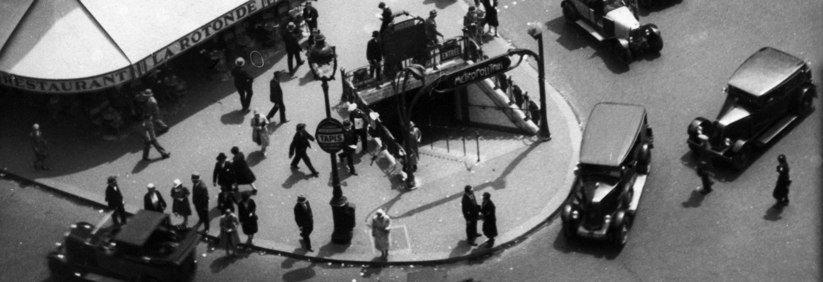 View from Galeries Lafayette Department Store onto Boulevard Haussmann, Paris, 1930 (detail) © Fritz Block Estate Archive, Stockholm/Hamburg