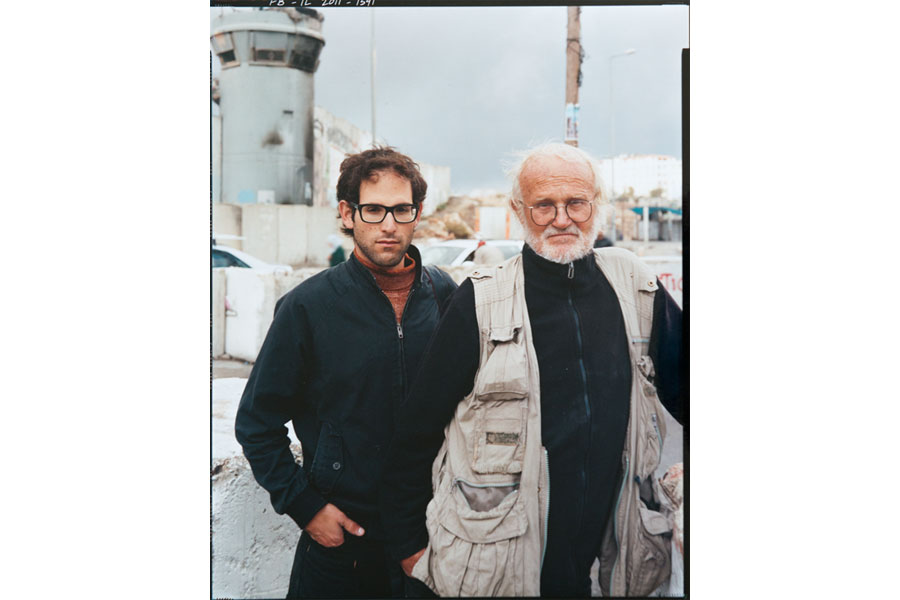 Director Gilad Baram And Photographer Josef Koudelka, Qalandia Checkpoint © Frederic Brenner