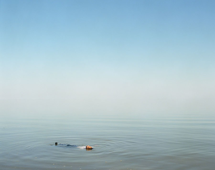 © Ron Jude, Boy Floating In Water, 2012, From The Series 'Lago', 90.2 X 111.8 Cm, Archival Pigment Print On Fiber Paper Mounted To DiBond