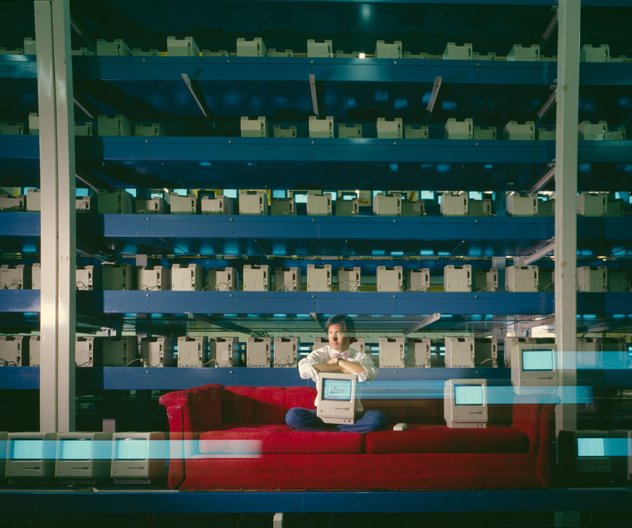 "Steve Jobs, Apple Computers, Cupertino, Fremont, California, USA, From The Series ""The Red Couch"", 1984 © Horst Wackerbarth"