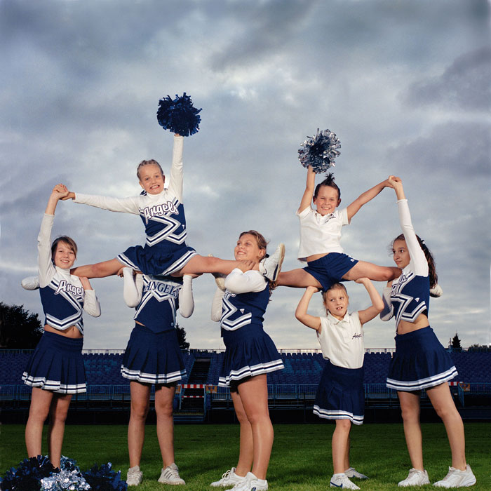 »Peewee Angels«, Children's Group Of The »Blue Angels«, Cheerleader Of The Football Club »Blue Devils«, Hamburg © Sabine Von Bassewitz