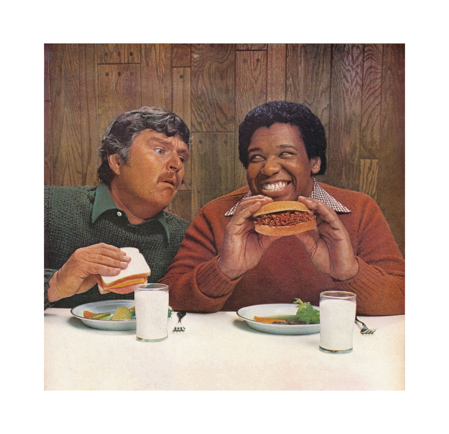 Hank Willis Thomas, The Mandingo Of Sandwiches, 1977/2007; A.d.S. Unbranded: Reflections In Black By Corporate America, Lambda Print. Courtesy The Artist And Jack Shainman Gallery, New York
