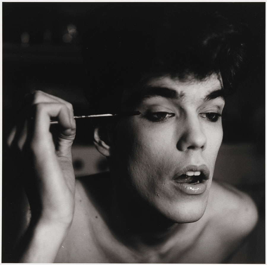 Peter Hujar, David Brintzenhofe Applying Makeup (II), 1982 © 1987 The Peter Hujar Archive LLC, Courtesy: Peter Hujar Archive And Pace/MacGill Gallery, New York